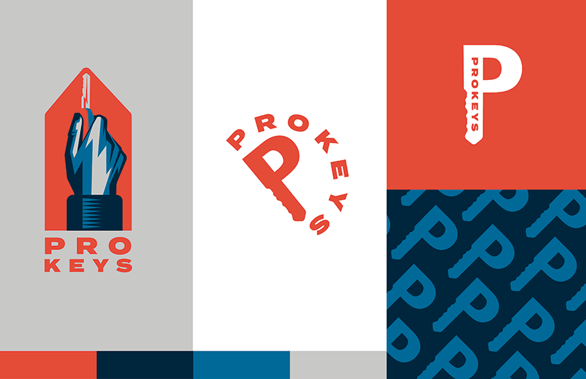 Mockup of a brand pallet made for ProKeys Maine
