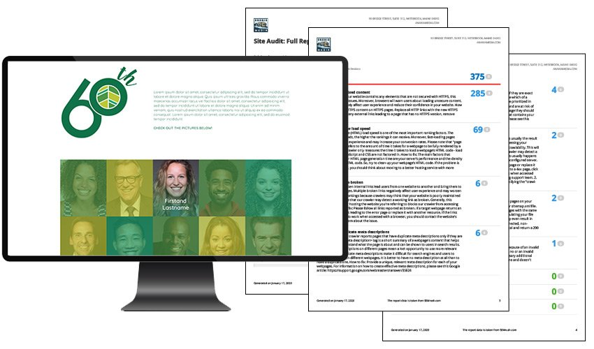 graphic of spurwink wordpress page template